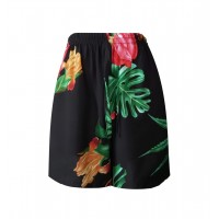 SHORTS PRETO ESTAMPADO